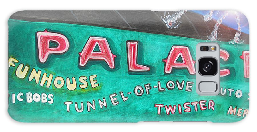 Asbury Park Art Galaxy Case featuring the painting Fireworks At The Palace by Patricia Arroyo