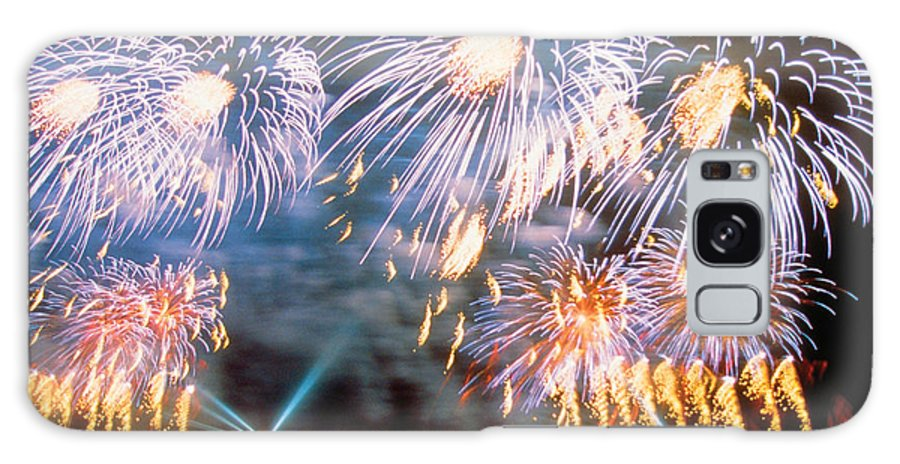 Fireworks Galaxy S8 Case featuring the photograph Fireworks Blue by Steve Somerville
