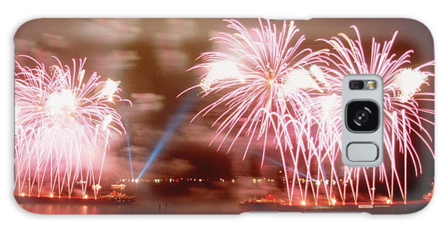 Fireworks Red Galaxy Case featuring the photograph Fireworks Red by Steve Somerville