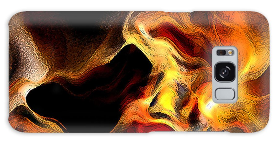 Abstract Galaxy S8 Case featuring the digital art Firey by Ruth Palmer