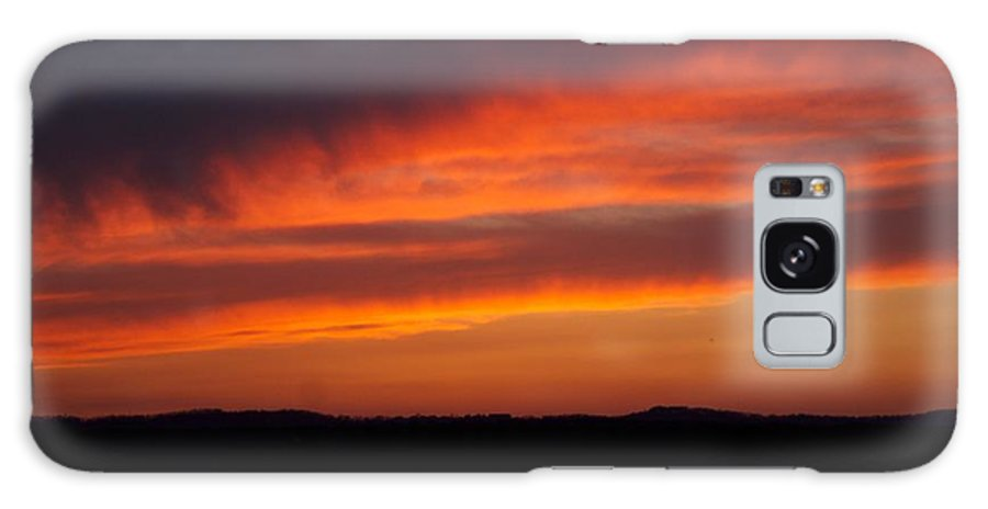 Red Sunset Galaxy Case featuring the photograph Firey Skies by Toni Berry