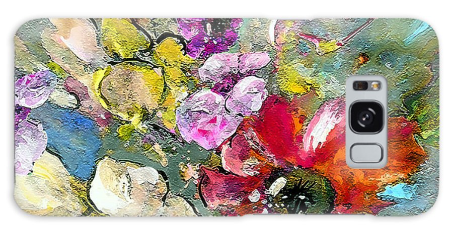 Nature Painting Galaxy Case featuring the painting First Flowers by Miki De Goodaboom