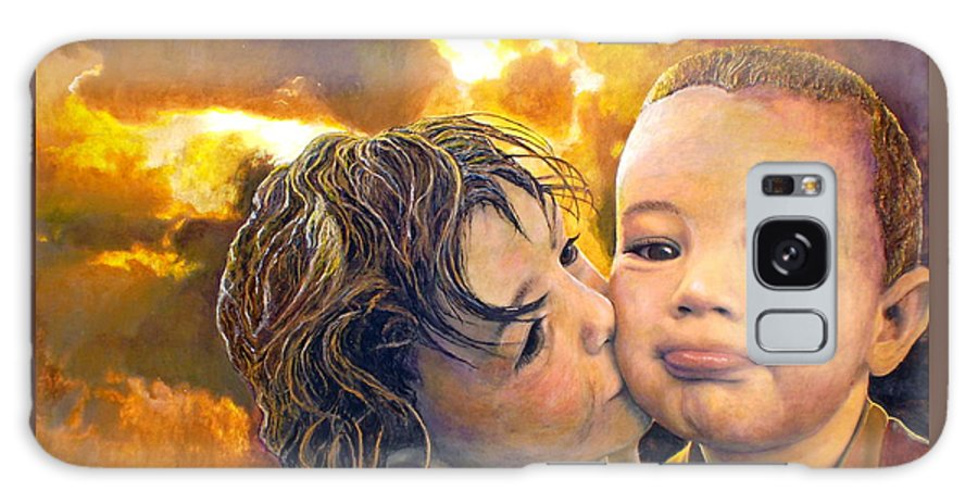 Children Galaxy S8 Case featuring the painting First Kiss by Michael Durst