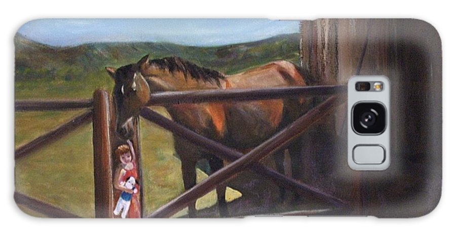 Horse Galaxy S8 Case featuring the painting First Love by Darla Joy Johnson