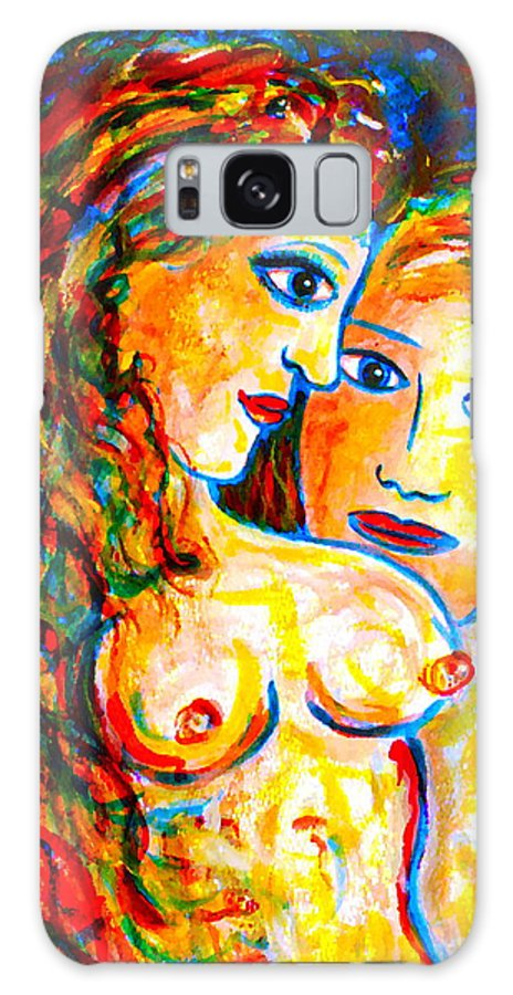 Expressionism Galaxy S8 Case featuring the painting First Love by Natalie Holland
