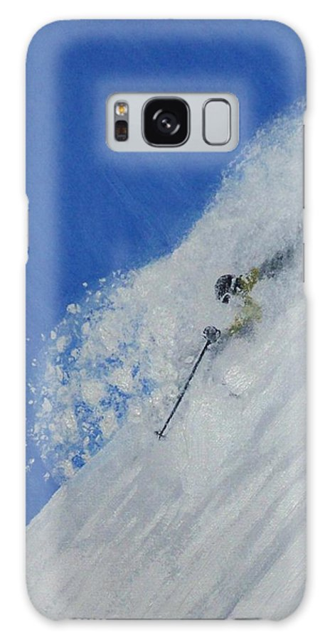 Ski Galaxy S8 Case featuring the painting First by Michael Cuozzo