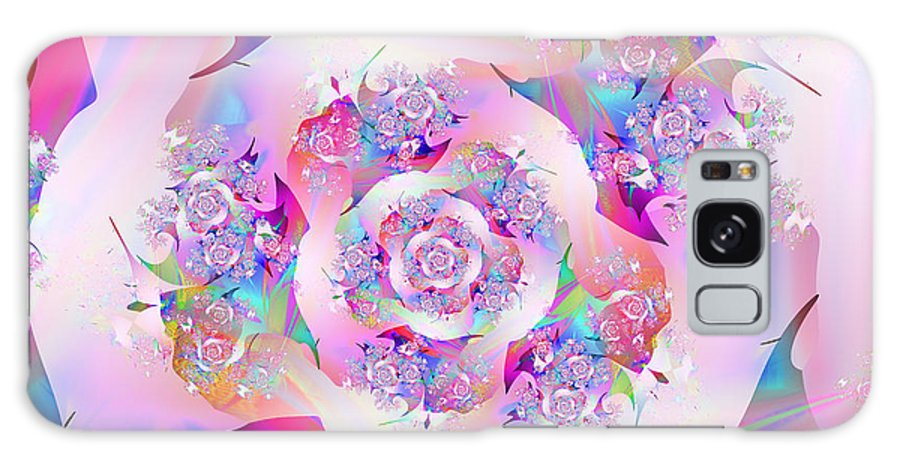 Fractal Galaxy Case featuring the digital art First Rose by Vicky Brago-Mitchell