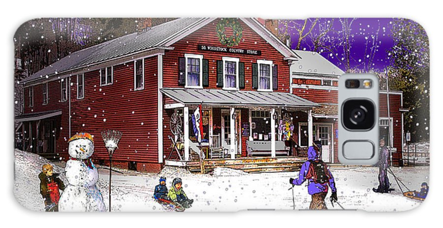 North Country Galaxy S8 Case featuring the photograph First Snow At The South Woodstock Country Store by Nancy Griswold