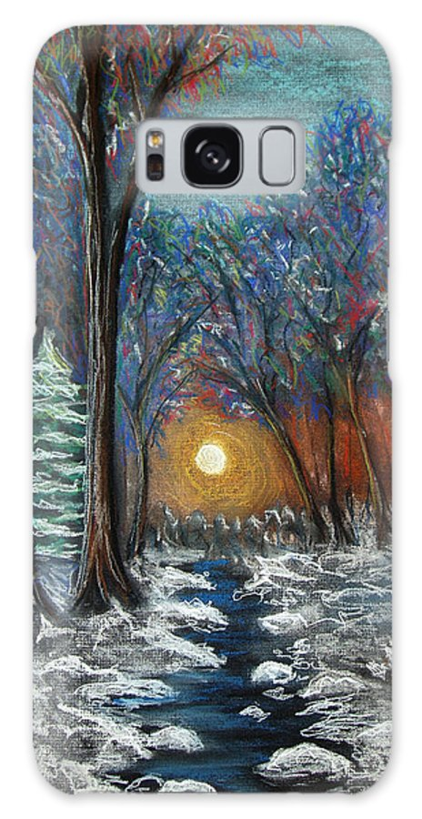 Snow Galaxy Case featuring the pastel First Snow by Nancy Mueller