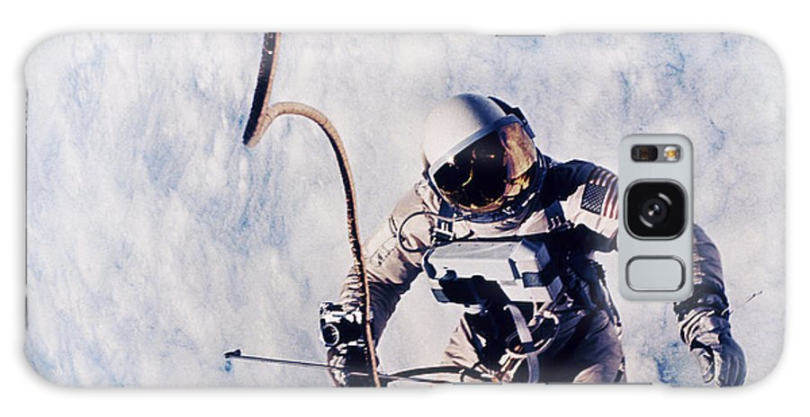 Extravehicular Activity Galaxy S8 Case featuring the photograph First Spacewalk by Nasa