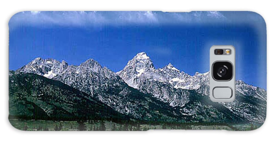 Mountains Galaxy Case featuring the photograph First View Of Tetons by Kathy McClure