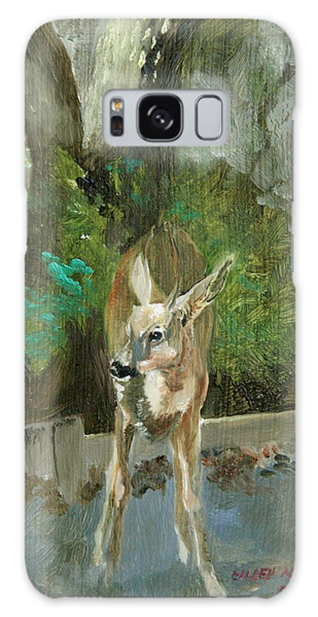 Deer Galaxy S8 Case featuring the painting First Young Buck Pad by Eileen Hale