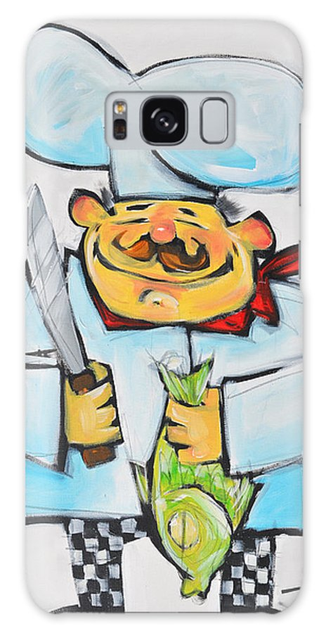 Chef Galaxy S8 Case featuring the painting Fish Chef by Tim Nyberg