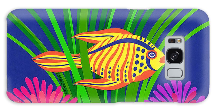 Nature Galaxy Case featuring the drawing Fish by Lucyna A M Green