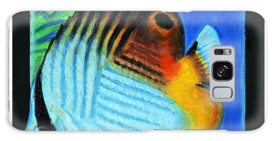 Bright Colors Galaxy S8 Case featuring the painting Fish Number Four by John Lautermilch