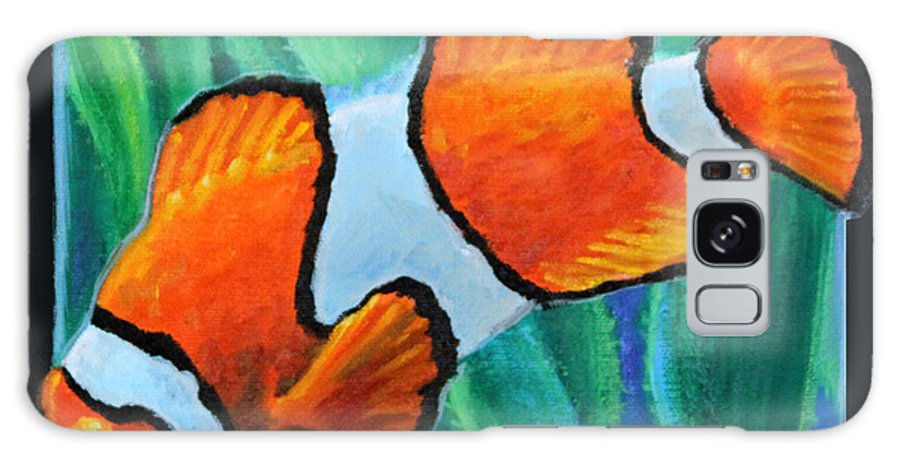 Ocean Fish Galaxy S8 Case featuring the painting Fish Number Three by John Lautermilch