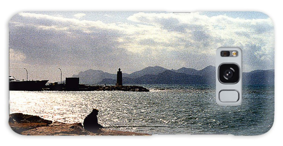 Fisherman Galaxy S8 Case featuring the photograph Fisherman In Nice France by Nancy Mueller