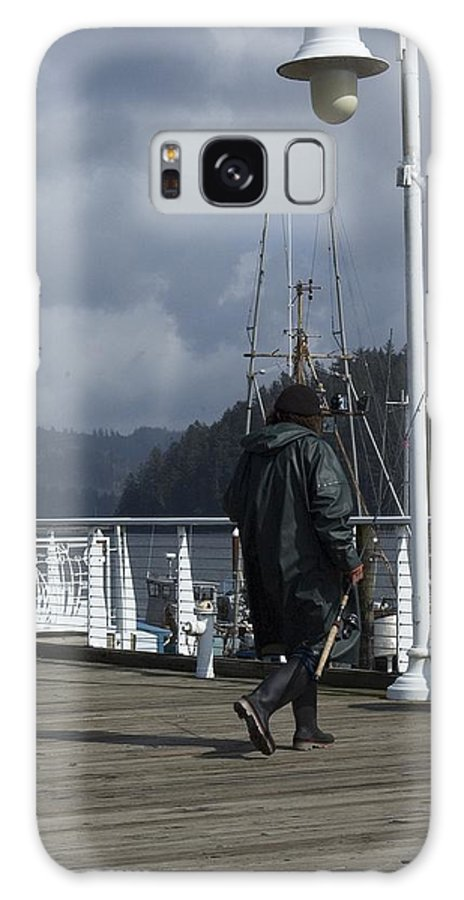 Dock Galaxy S8 Case featuring the photograph Fisherman by Sara Stevenson