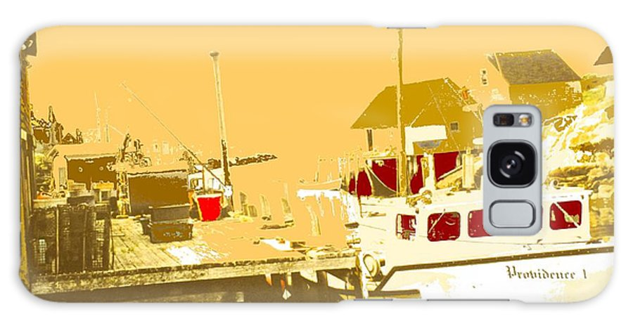 Red Galaxy Case featuring the photograph Fishing Boat At The Dock by Ian MacDonald