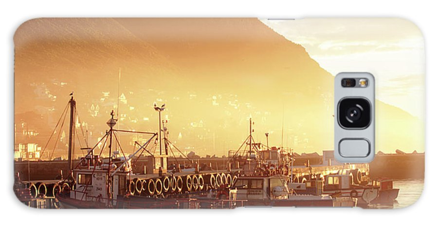 Dawn Galaxy S8 Case featuring the photograph Fishing Boats At Dawn Kalk Bay South Africa by Neil Overy
