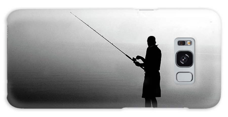 Fishing Galaxy S8 Case featuring the photograph Fishing In Fog by Jean Macaluso