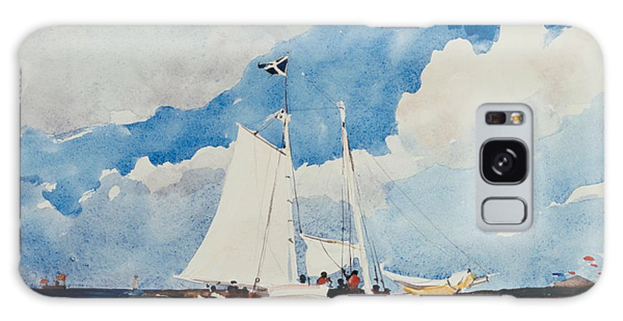 Boat Galaxy S8 Case featuring the painting Fishing Schooner In Nassau by Winslow Homer