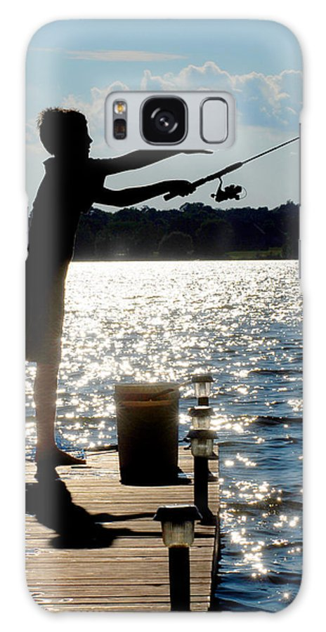 Fishing Galaxy S8 Case featuring the photograph Fishing Silhouette by Steve Somerville