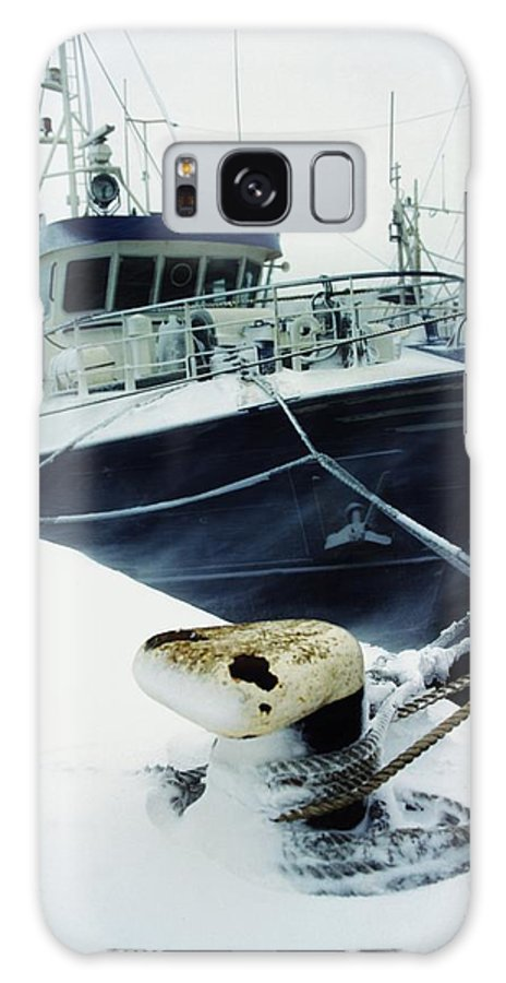 Economy Galaxy S8 Case featuring the photograph Fishing Trawler, Howth Harbour, Co by The Irish Image Collection