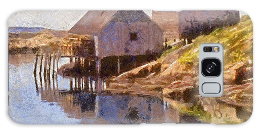 Canadian Galaxy S8 Case featuring the painting Fishing Wharf by Jeffrey Kolker