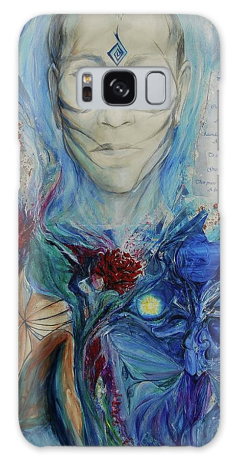 Collage Galaxy S8 Case featuring the painting Five Fold Kiss by Jennifer Christenson