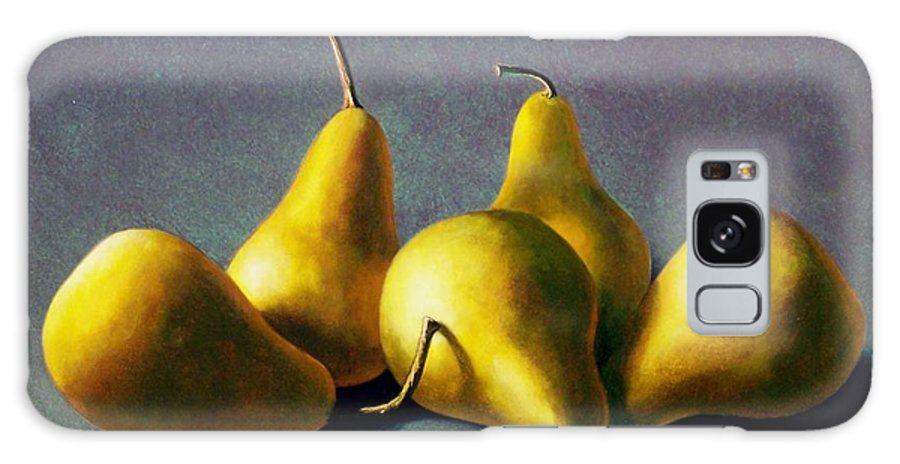 Still Life Galaxy S8 Case featuring the painting Five Golden Pears by Frank Wilson