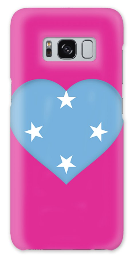 Yap Galaxy S8 Case featuring the digital art Flag Of Micronesia Heart by Roy Pedersen