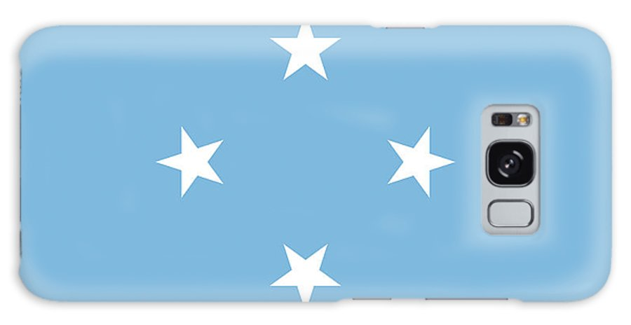 Chuuk Galaxy S8 Case featuring the digital art Flag Of Micronesia by Roy Pedersen