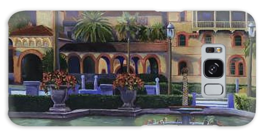 St. Augustine\'s Flagler College Campus Galaxy S8 Case featuring the painting Flagler College II by Christine Cousart