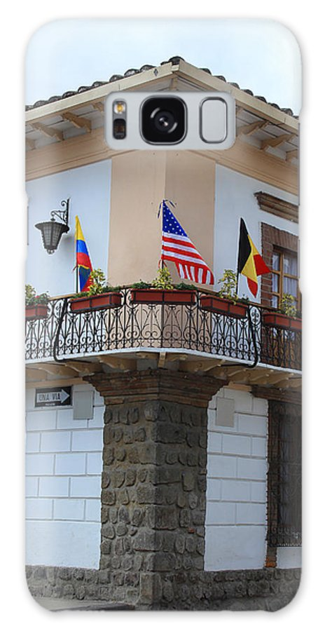 Balcony Galaxy S8 Case featuring the photograph Flags On A Balcony by Robert Hamm