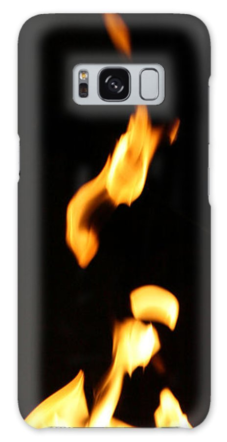 Close Up Galaxy S8 Case featuring the photograph Flame Face by Joshua Sunday