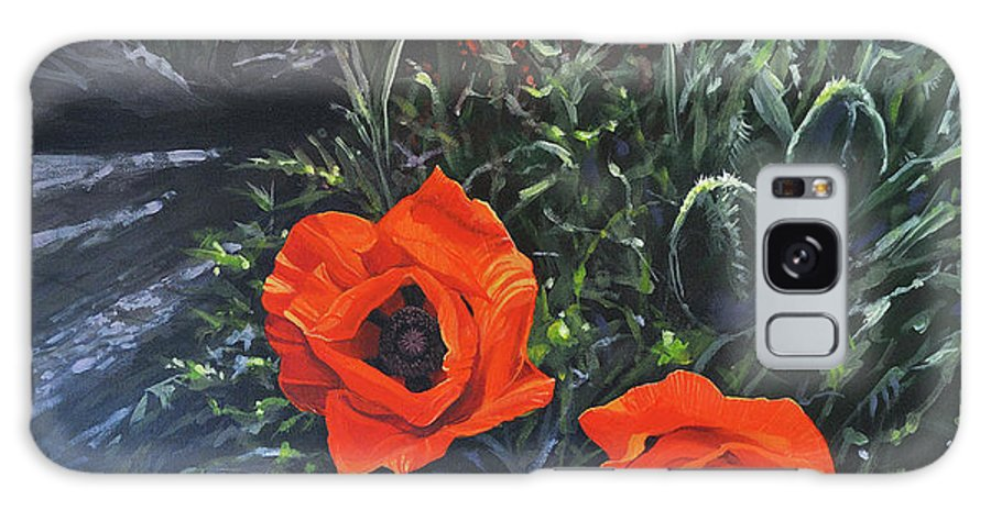 Poppy Galaxy Case featuring the painting Flame of the West by Hunter Jay
