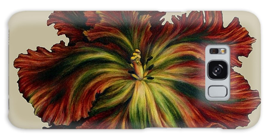 Tulip Painting Galaxy S8 Case featuring the painting Flame Red Tulip II by Meridith Martens