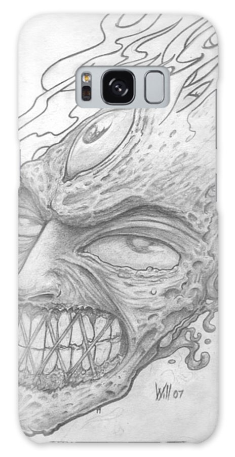Zombie Galaxy S8 Case featuring the drawing Flamehead by Will Le Beouf