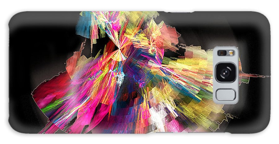 Abstract Galaxy Case featuring the digital art Flamenco by Ricardo Szekely