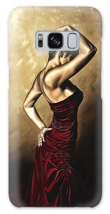 Flamenco Galaxy S8 Case featuring the painting Flamenco Woman by Richard Young