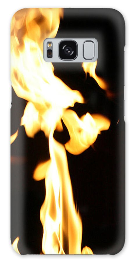 Close Up Galaxy S8 Case featuring the photograph Flamin Eagle by Joshua Sunday
