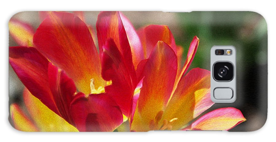 Tulips Galaxy S8 Case featuring the painting Flaming Tulips by Jeffrey Kolker
