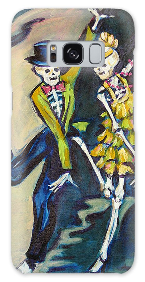 Dance Galaxy Case featuring the painting Flappers by Sharon Sieben