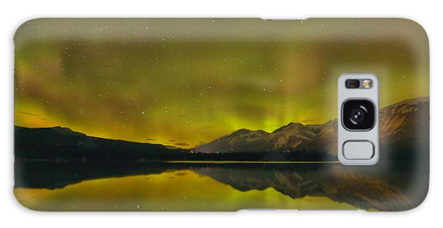 Canadian Northern Lights Galaxy S8 Case featuring the photograph Flaring Northern Lights by Adam Jewell
