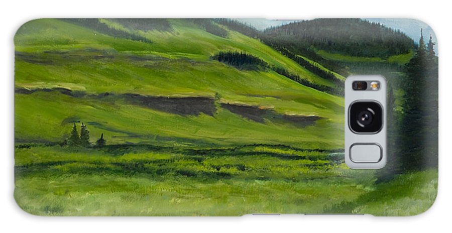 Landscape Artwork Painting Paintings Galaxy S8 Case featuring the painting Flattops Wilderness by Julie Kreutzer