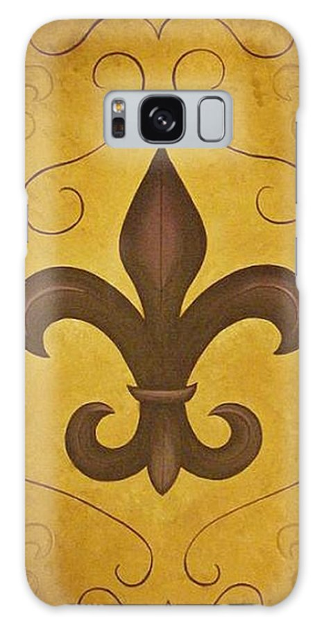 Fleur De Lis Galaxy S8 Case featuring the painting Fleur De Lis II by Valerie Carpenter