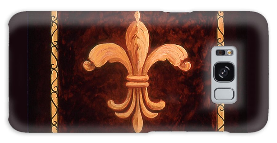 France Galaxy S8 Case featuring the painting Fleur De Lys-king Charles Vii by Marilyn Dunlap
