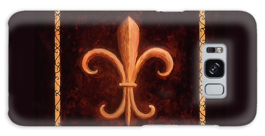 French Symbols Galaxy S8 Case featuring the painting Fleur De Lys-king Louis Vii by Marilyn Dunlap