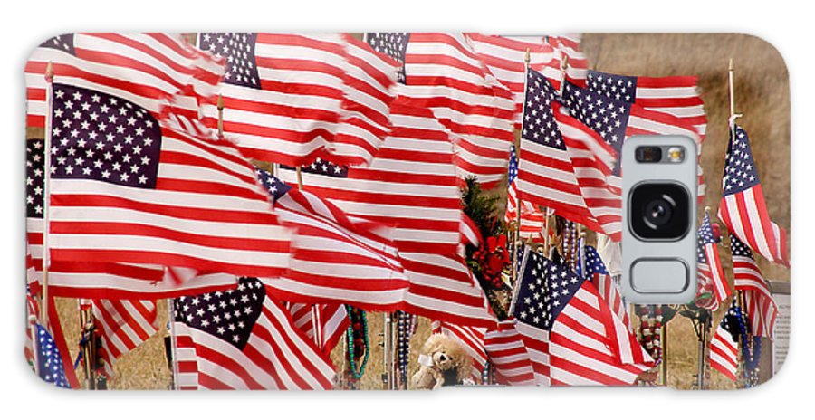 Flags Galaxy S8 Case featuring the photograph Flight 93 Flags by Jean Macaluso